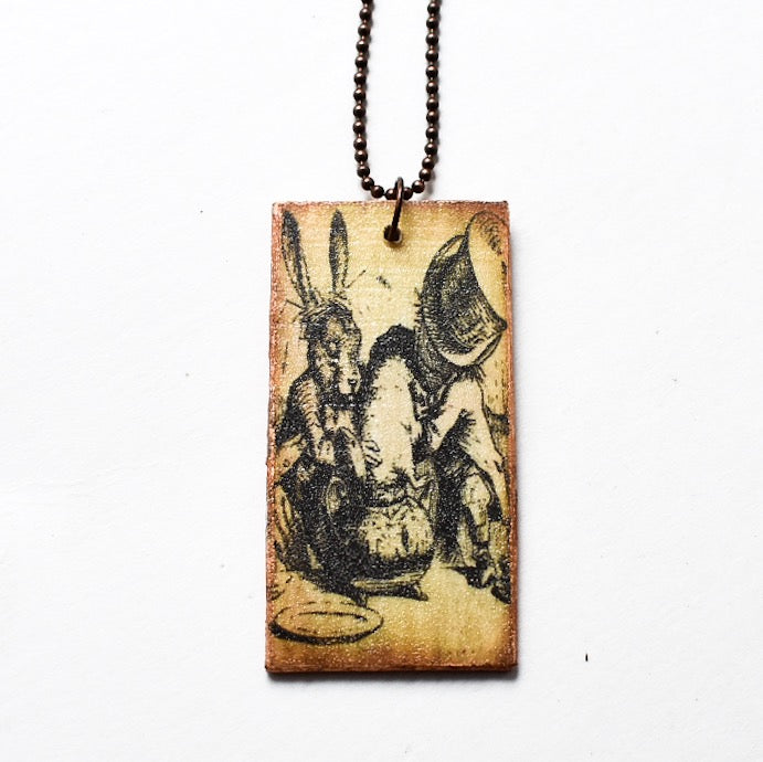 Wooden Wonderland Mad Tea Party Necklace - Hello Violet