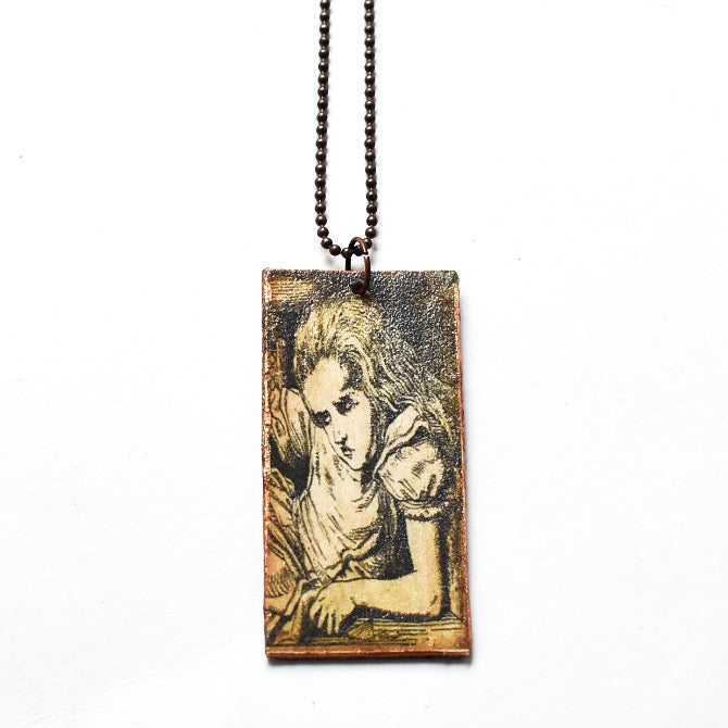 Wooden Wonderland Tall Alice Necklace