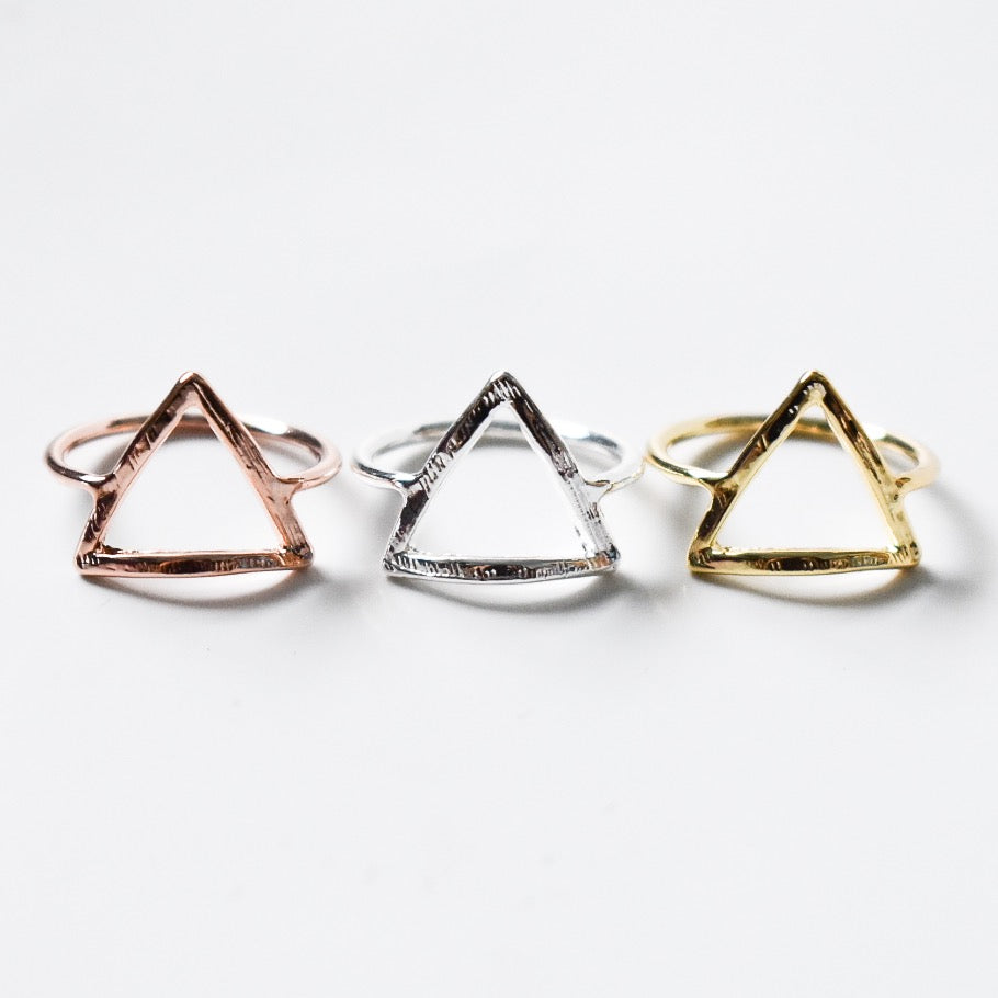 Textured Triangle Ring