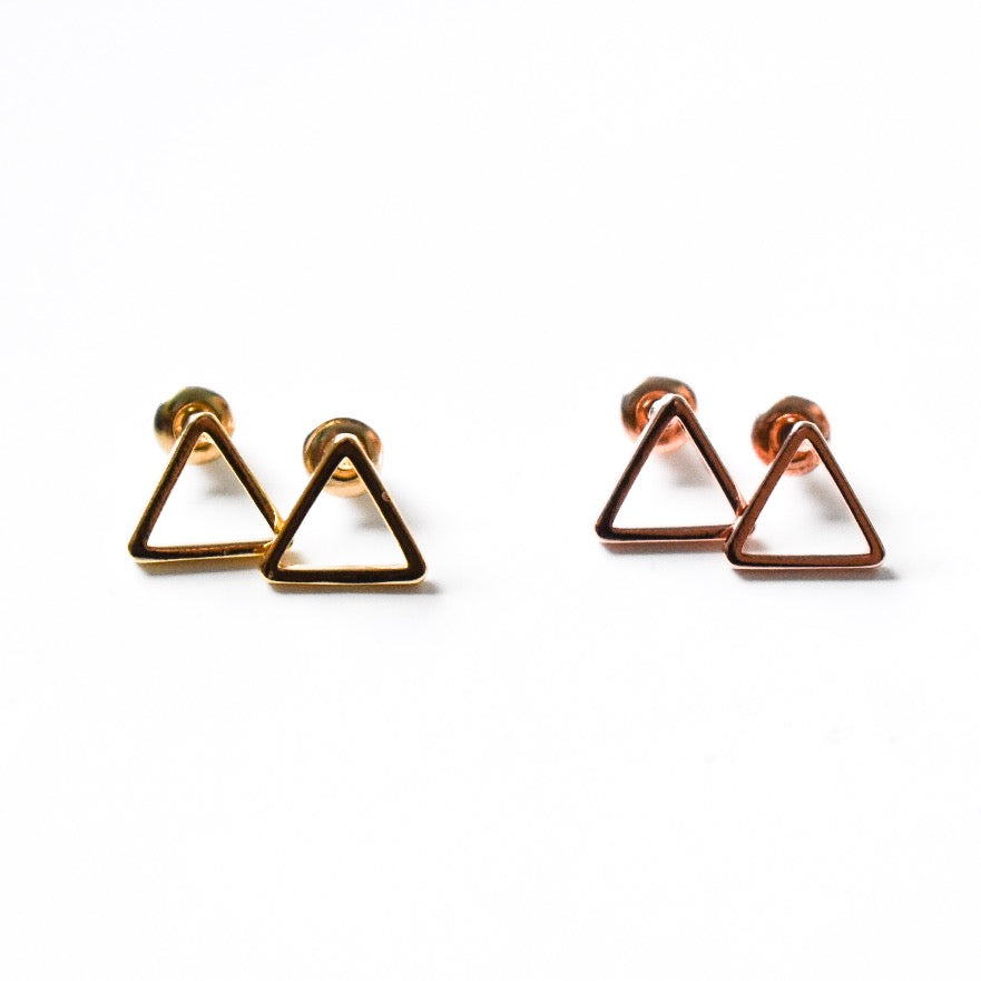 Mini Triangle Studs - Hello Violet