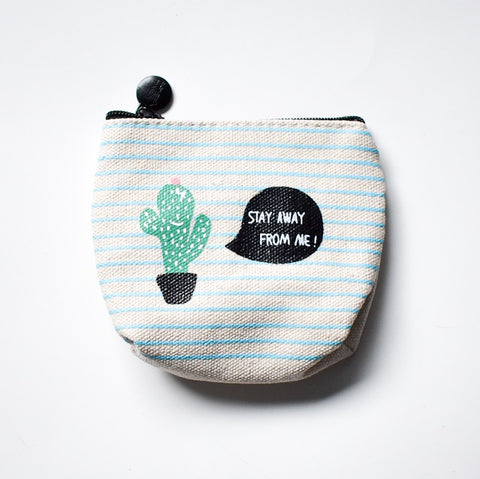 Angry Cactus Coin Purse - Hello Violet