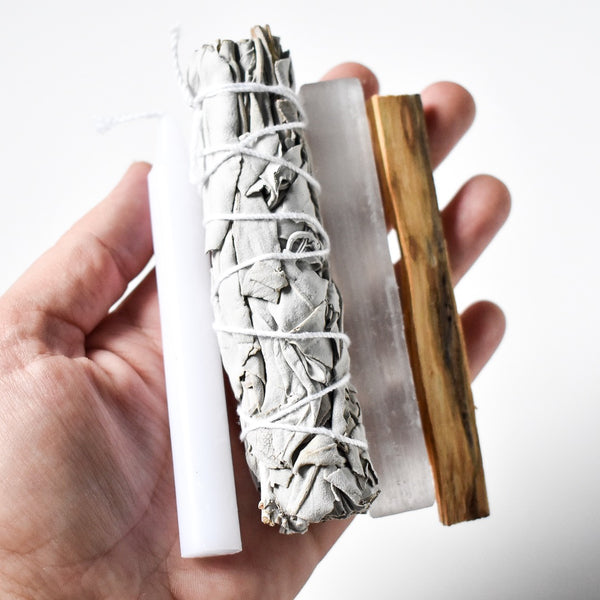 Sage + Selenite Purification Bundle