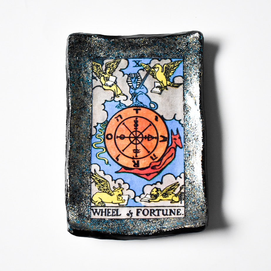 Wheel of Fortune Tarot Trinket Dish