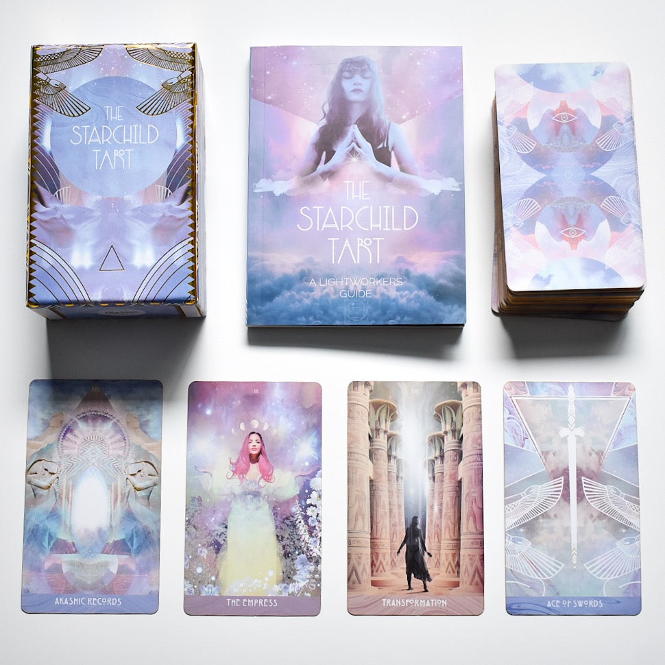 Pre Order: Starchild Tarot Akashic Traditional Deck and Guidebook