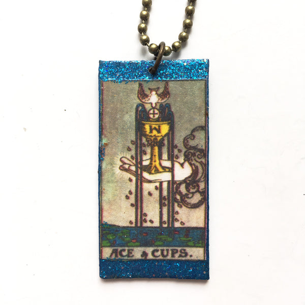 Wood Tarot Card Necklaces - Hello Violet