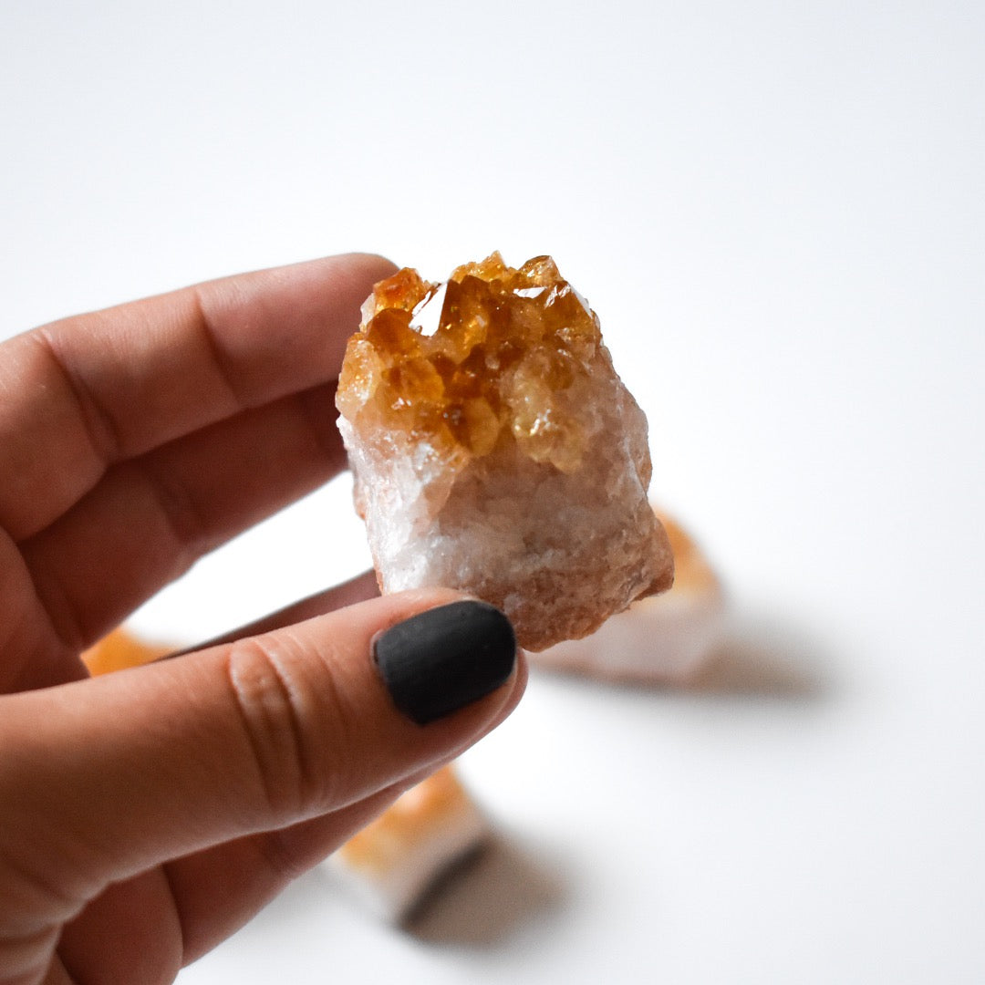 "Small Citrine Crystal Cluster 1""-2"" - Hello Violet"