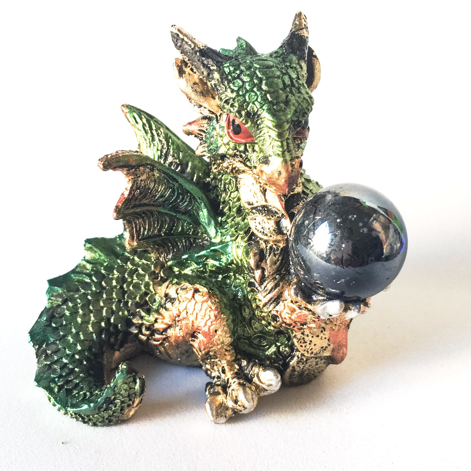 Green Polyresin Baby Dragon - Hello Violet