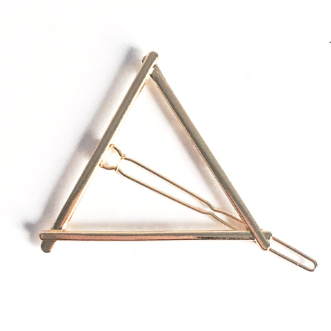 Gold Triangle Hair Clip - Hello Violet
