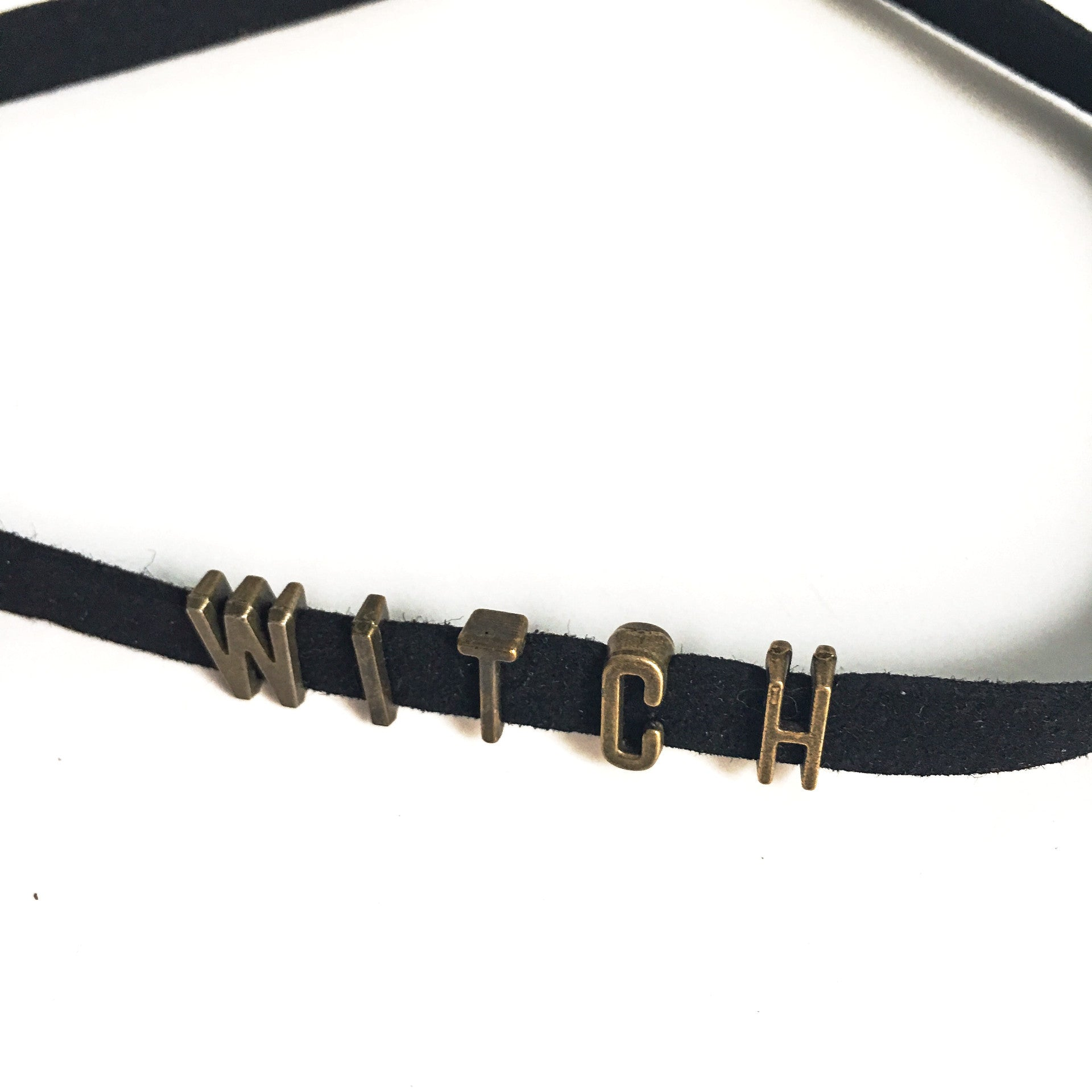 Suede Witch Choker - Hello Violet