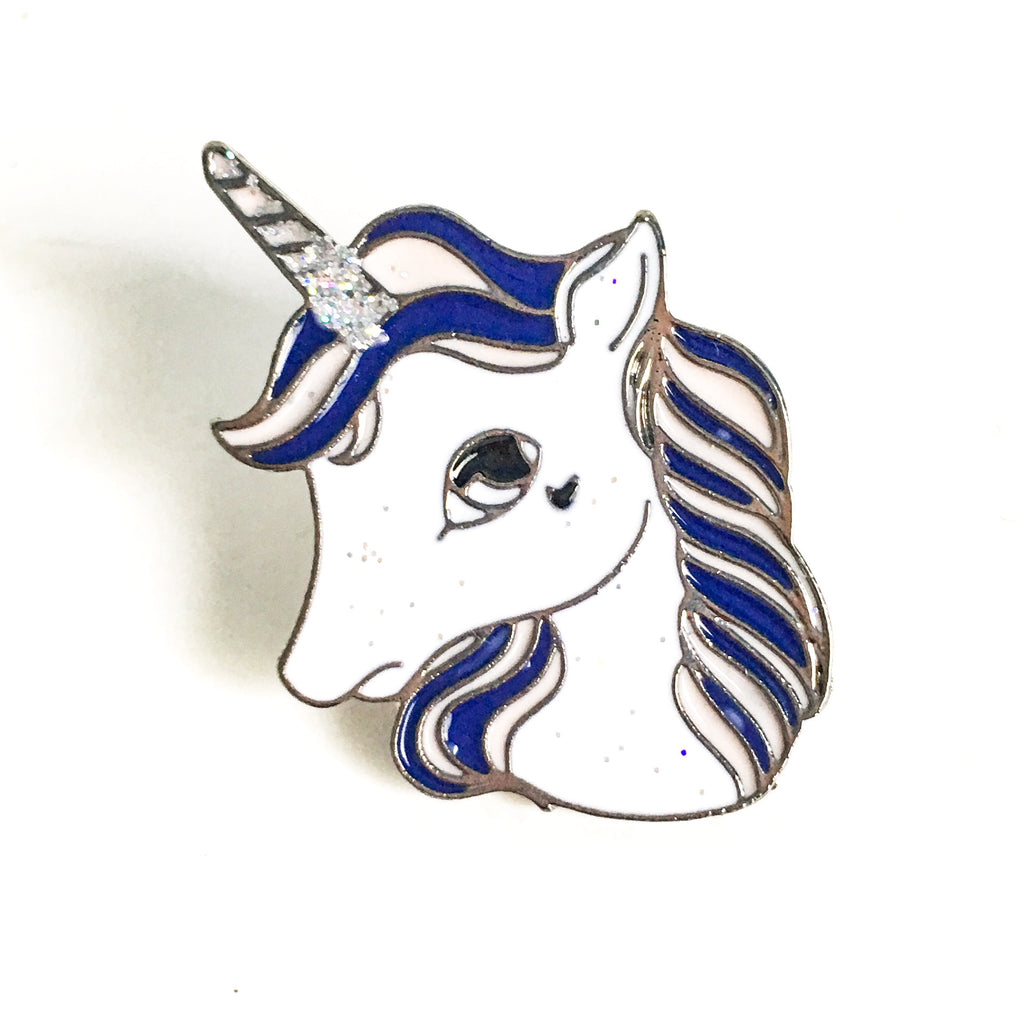 Unicorn Enamel Pin - Hello Violet