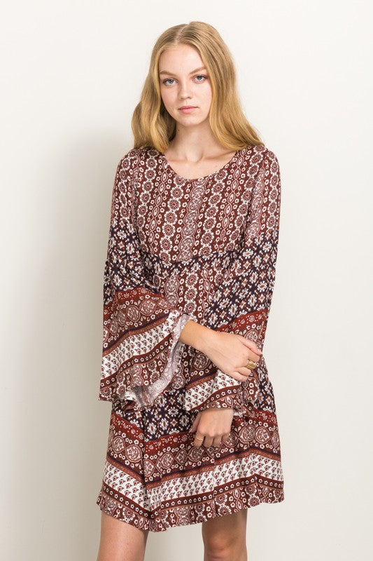Daphne Paisley Floral Dress - Hello Violet