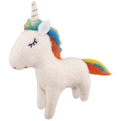 Unicorn Felted Woolie Friend