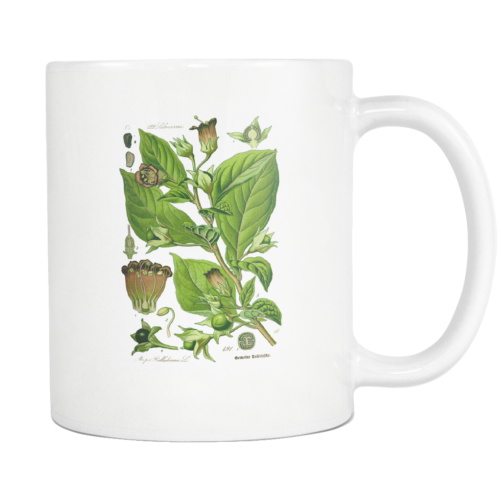 Belladonna Deadly Nightshade Illustration Mug - Hello Violet