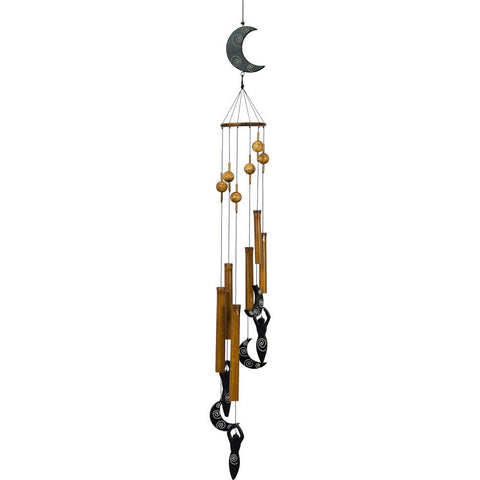 Bamboo Moon Goddess Wind Chime - Hello Violet