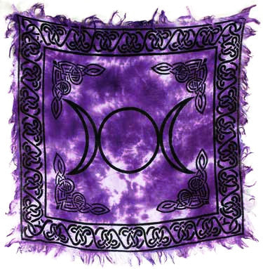 Violet Triple Moon Altar Cloth - Hello Violet