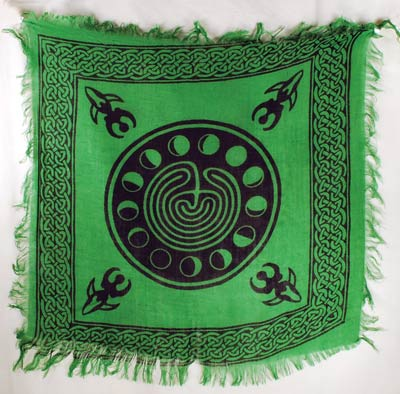 Green Moon Phase + Goddess Altar Cloth - Hello Violet