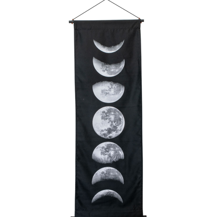 Moon Phase Cotton Wall Scroll