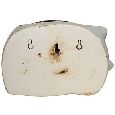 Cat Nap Gray Ceramic Wall Planter