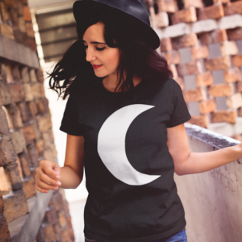 Witchy Crescent Moon Tee