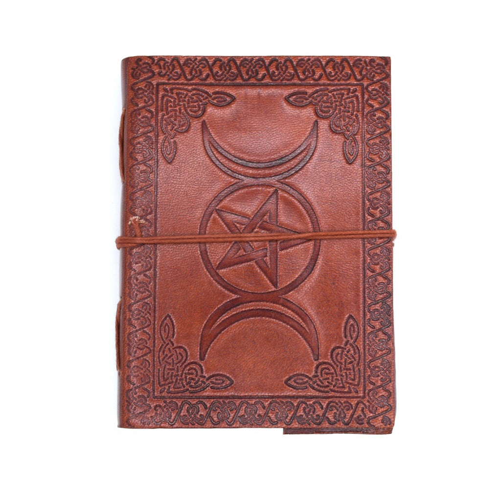 Triple Moon Leather Journal