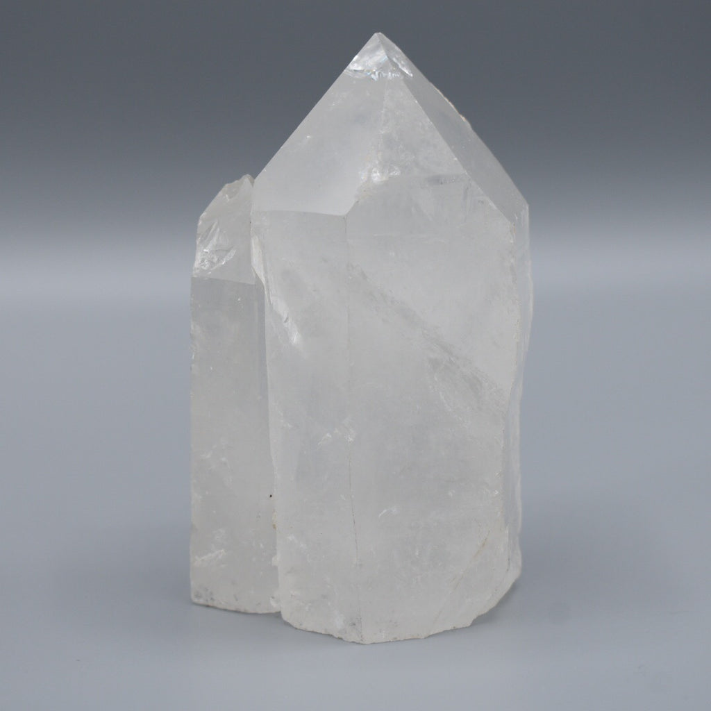 Extra Large Quartz Crystal Cut Base Display Point - Hello Violet
