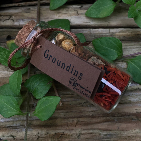 Mini Spell Bottle: Grounding