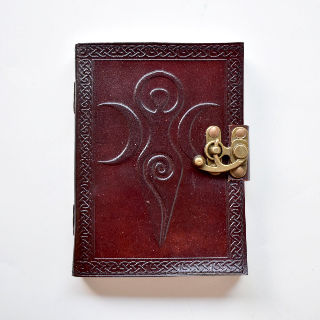 Moon Goddess Leather Latch Journal - Hello Violet