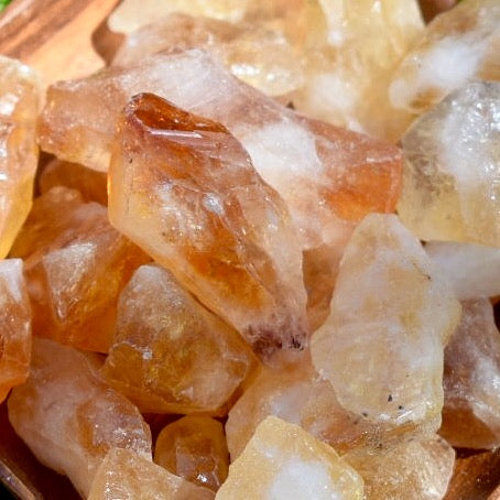 Small Raw Citrine Crystal Point - Hello Violet