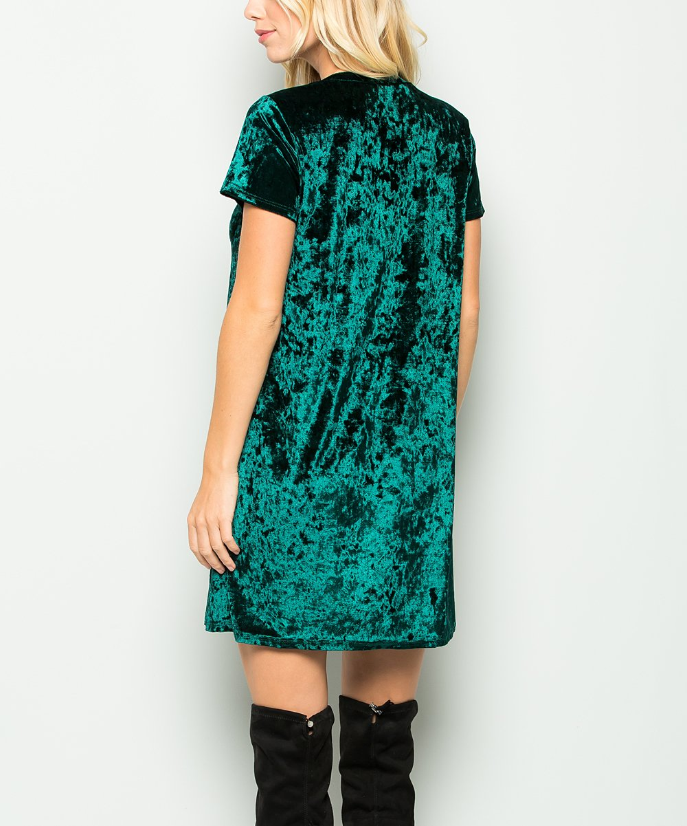 Trouble In Emerald City Velvet Dress