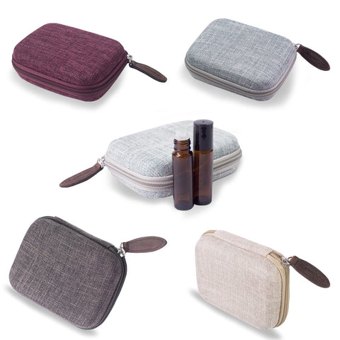 $10 SALE - Oil Case - Hard Case for 10 Oil Rollers / Roll on Bottles | Travel Case