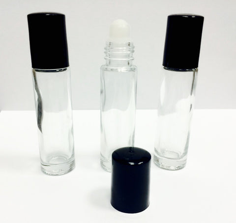 10ml Empty Clear Glass Roller Bottles for Essential Oils - AllOilEverything