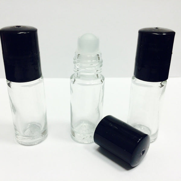 5 ml Empty Clear Glass Roller Bottles for Essential Oils, Perfumes, Fragrance, DIY - AllOilEverything