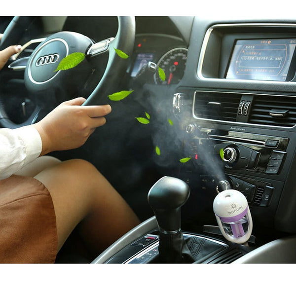 Mini Diffuser for Auto Car Travel - Add Essential Oils - Great for Travel; Portable Aromatherapy, Aroma, Air Freshener - AllOilEverything