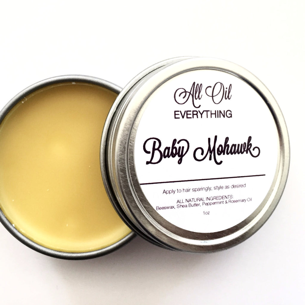 Baby Mohawk - Kids Essential Oil Hair Wax Paste Balm - All Natural, Safe & Simple ingredients for your little man or princess - AllOilEverything