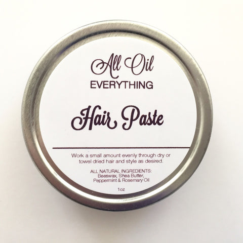 Essential Oil Hair Paste - Hair Wax Paste Balm Gel - All Natural, Vegan, Organic Hair Care - Safe & Simple ingredients - AllOilEverything