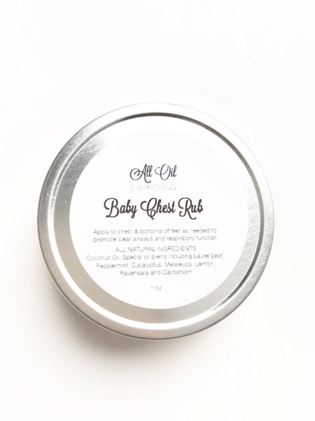 Baby Chest Rub - Essential Oil Vapor Chest Rub | All Natural Congestion Relief