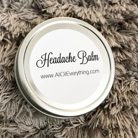Headache Balm - Natural Headache Relief, Migraine Rub, Natural Relief, Tension Headache