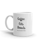 Coffee Oils Donuts - White Glass Mug | Coffee Mug | Coffee Addict | Donut Mug | Essential Oils | Craft Mug | Coffee Mug | Coffee Cup