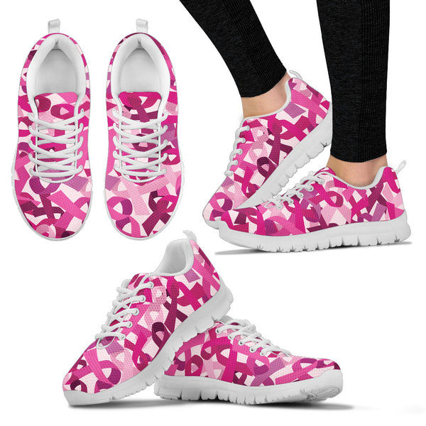 Breast Cancer Awareness Women's Sneakers - Nvr2Lte2Shop.com