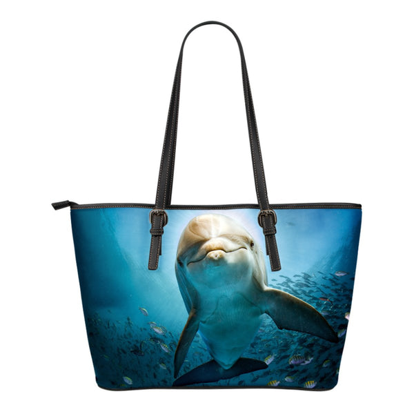 Dolphin Small Leather Tote - Nvr2Lte2Shop.com