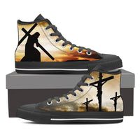 Jesus High Top Canvas Shoes - Women - Nvr2Lte2Shop.com