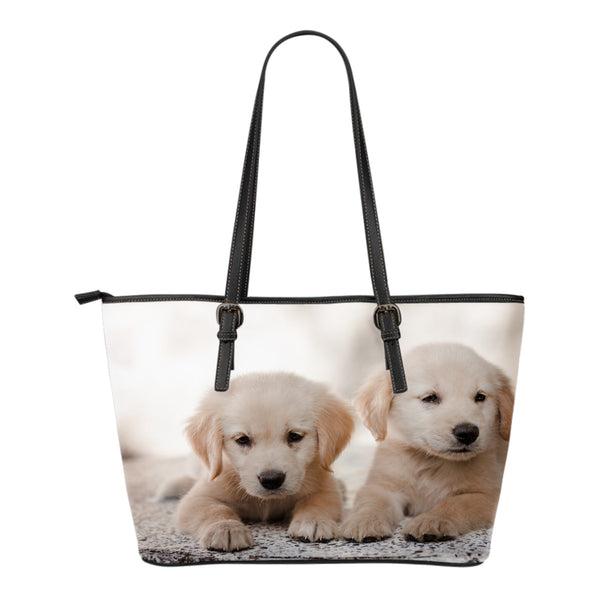 Golden Retriever Small Leather Tote - Nvr2Lte2Shop.com