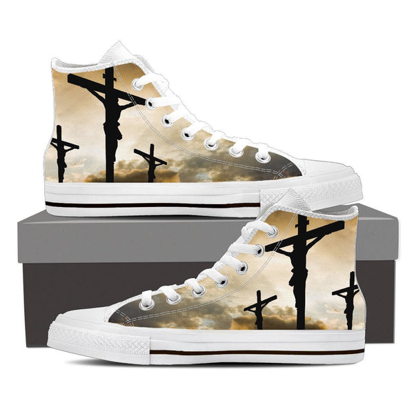 Jesus High Top Canvas Shoes - Men - Nvr2Lte2Shop.com