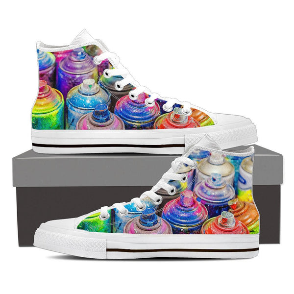 Grafitti Paint High Top Canvas Shoes - Nvr2Lte2Shop.com