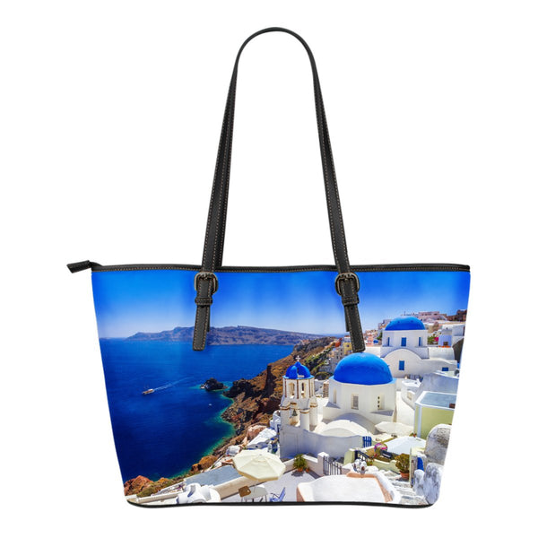 Greece Small Leather Tote - Nvr2Lte2Shop.com