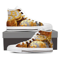 Bitcoin High Top Canvas Shoes - Nvr2Lte2Shop.com
