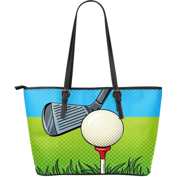 Golf Pixelated Large Leather Tote - Nvr2Lte2Shop.com
