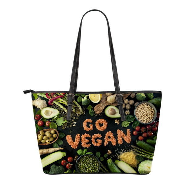 Go Vegan Small Leather Tote - Nvr2Lte2Shop.com