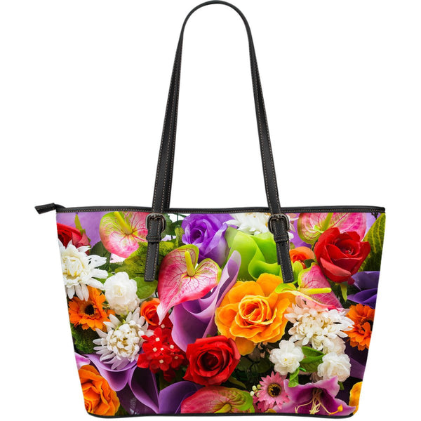 Flower Large Leather Tote Bag - Nvr2Lte2Shop.com