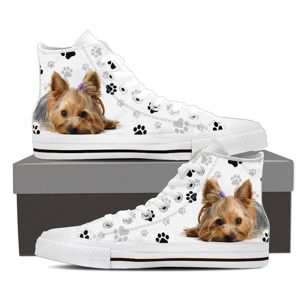 Yorkie High Top Canvas Shoes - Nvr2Lte2Shop.com